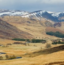Stunning view to the Angus Glens